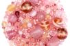 Perles artisanales en verre - camaïeux de roses - Perles en verre - 10doigts.fr