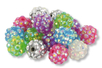 "Perles ""Disco"" 7 couleurs- 21 perles - Perles acrylique - 10doigts.fr"