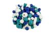 Perles en bois en camaïeu de bleu - 70 perles - Perles en bois – 10doigts.fr