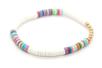 Perles rondelles Heishi - 900 perles - Perles Heishi et coquillages – 10doigts.fr
