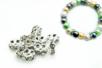 Intercalaires argentés avec strass incrustés - Lot de 10 - Perles intercalaires & charm's - 10doigts.fr