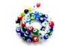 "Perles en verre ""Oeil de la chance"" - 40 perles - Perles en verre - 10doigts.fr"