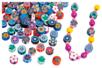 Perles rondelles Millefiori - 100 perles - Perles en pâte polymère – 10doigts.fr