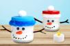 Photophore bonhomme de neige - Lumières : photophores, bougies, lampions – 10doigts.fr