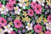 Coupon de tissu imprimé noir fleurs roses - 43 x 53 cm - Coupons de tissus – 10doigts.fr