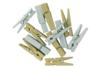 Pinces à linge métallisées - Set de 24 - Pinces à linge colorées - 10doigts.fr