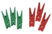 Pinces à linge vertes et rouges - Set de 24 - Pinces à linge colorées – 10doigts.fr