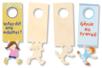 Plaque pour poignée de porte - Garçon ou fille - Plaques en bois - 10doigts.fr