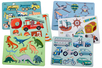 Pochoirs aventure - Set de 6 - Pochoirs Transports et Métiers – 10doigts.fr