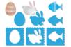 Pochoirs Pâques 3 en 1 - Set de 6 Modèles - Pochoirs fêtes – 10doigts.fr