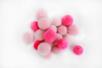 Pompons ronds camaïeu rose - 20 pièces - Pompons – 10doigts.fr