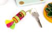 Mini pompons fluo sur anneaux - 8 pièces - Perles tons vifs – 10doigts.fr
