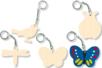 Porte-clefs insectes assortis, en bois naturel à décorer... - Tutos Porte-clés et Grigris – 10doigts.fr