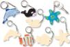 Porte-clefs animaux de la mer - Porte-clefs en bois - 10doigts.fr