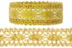 Ruban dentelle adhésive or ou argent - 1 m - Rubans et ficelles – 10doigts.fr