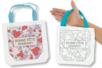 """Sac à colorier """"Bonne Fête Maman"""" - Support textile à customiser - 10doigts.fr"""