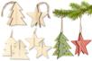 Sapin 3D ou étoile 3D à suspendre - Décorations de Noël en bois – 10doigts.fr