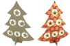 Sapin en carton papier mâché avec étoiles - Supports de fêtes en carton - 10doigts.fr