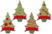 Sapins de Noël en bois décoré - Set de 8 - Motifs peints – 10doigts.fr