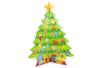 Sapin géant 3D + 98 gommettes - Kits d'activités Noël – 10doigts.fr