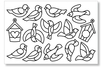 Stickers transparents à colorier - 12 stickers oiseaux - Gommettes à colorier, à gratter – 10doigts.fr