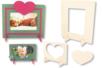 Set de 2 cadres rectangulaires, en bois naturel à décorer - Tutos Fête des Mères – 10doigts.fr