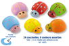 Coccinelles en bois coloré adhésives - 24 pièces - Motifs peint - 10doigts.fr