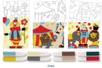 Cartes sable thème CIRQUE + 8 tubes de sable - Activités Montessori - 10doigts.fr