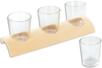 Set de 3 verrines en verre avec support en bois demi-rond - Déco de la maison – 10doigts.fr