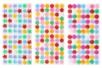 Boutons adhésifs formes assorties - Set de 300 - Boutons – 10doigts.fr