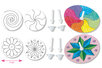 Toupies à colorier - Set de 4 - Supports pré-dessinés – 10doigts.fr