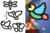 Trames vitrail Printemps - 16 formes - Kits activités de Pâques – 10doigts.fr