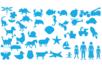 Maxi pack pochoirs + tracettes - Set de 40 modèles - Pochoirs Nature – 10doigts.fr