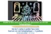 Set de 5 cartes à gratter face noire fond arc en ciel holographique + 5 grattoirs - Arc-en-ciel – 10doigts.fr