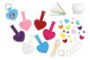 Kit création porte-clés en feutrine - Set de 24 - Feutrine, feutre, toile de jute – 10doigts.fr