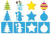 Pochoirs Noël 3 en 1 - Set de 8 Modèles - Pochoirs fêtes – 10doigts.fr