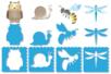 Pochoirs PRINTEMPS - Set de 8 - Pochoirs Animaux – 10doigts.fr