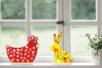 Silhouette lapin ou poule en bois + socle - Kits activités Pâques – 10doigts.fr