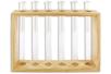 Set de 6 soliflores en verre, avec support en bois - Déco de la maison – 10doigts.fr