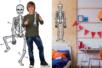 Squelette géant phosphorescent et articulé - Halloween – 10doigts.fr