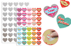 """Cœurs """"Message d'amour"""" à gratter - 40 stickers - Stickers, gommettes coeurs – 10doigts.fr"""
