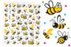 Gommettes abeilles - 80 gommettes - Gommettes Animaux - 10doigts.fr