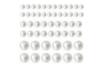 Cabochons nacrés adhésifs - 146 strass - Stickers strass, cabochons - 10doigts.fr