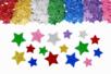 Stickers étoiles en caoutchouc pailleté - Set de 500 - Formes en Mousse autocollante - 10doigts.fr