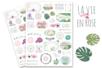 Stickers La vie en rose - 78 stickers - Décorations Fleurs – 10doigts.fr