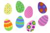 Sitckers oeufs en caoutchouc souple - 36 stickers - Gommettes Pâques – 10doigts.fr