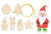 Suspensions de Noël en bois gravé - Set de 6 - Suspensions et boules de Noël – 10doigts.fr