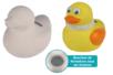 Tirelire canard en terre cuite blanche - Supports en Céramique et Terre Cuite – 10doigts.fr