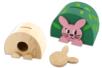 Tirelires Ourson et Lapin en bois - Décoration d'objets – 10doigts.fr