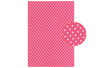 Tissu adhésif pois fuchsia - Tissus adhésifs – 10doigts.fr